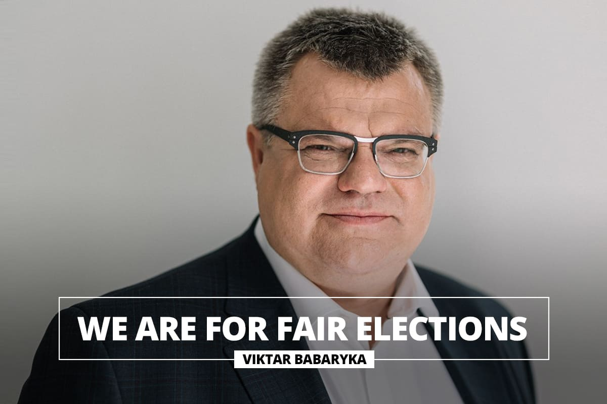 We are for fair elections