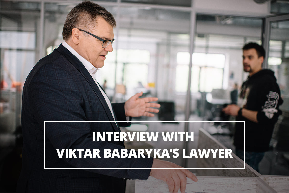 Interview with Viktar Babaryka's lawyer