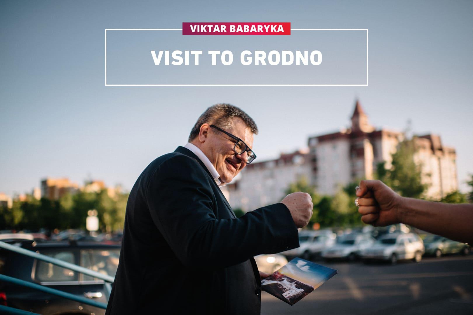 Viktar Babaryka Visit to Grodno